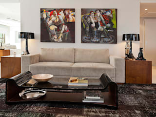 Cliente F: Salas de estar  por Link Interiores