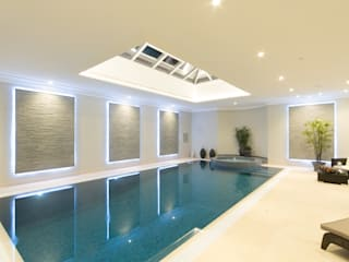Flairlight Project 1 Oxshott, Tudor House Piscinas de estilo moderno de Flairlight Designs Ltd Moderno