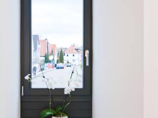 Box House - Einfamilienwohnhaus, Lorsch Moderner Flur, Diele & Treppenhaus von Helwig Haus und Raum Planungs GmbH Modern