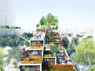Projets par DGT. (Dorell.Ghotmeh.Tane/Architects) Moderne
