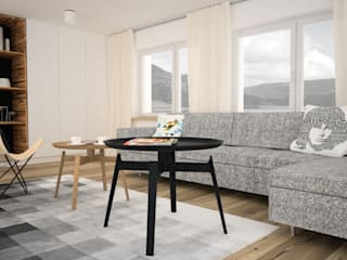 OES architekci Scandinavian style living room