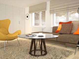 OES architekci Modern living room