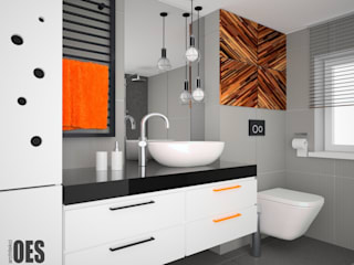 OES architekci Modern bathroom