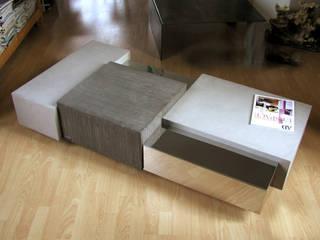 Table basse béton + métal:  de style  par Cameleon design