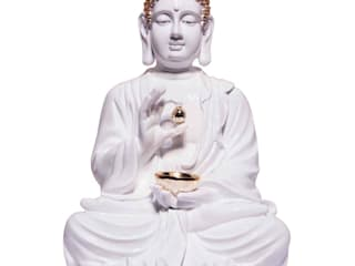 Lord Buddha Statue Holding Golden Begging Bowl: asian  by M4design,Asian