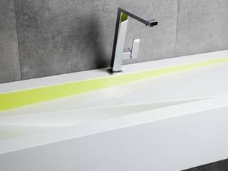 Nietypowe i asymetryczne umywalki Luxum od Luxum Nowoczesny
