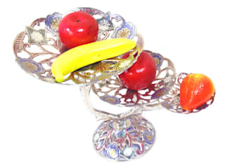 3 Tier Nickel Plated Brass Perforated Fruit Stand by M4design