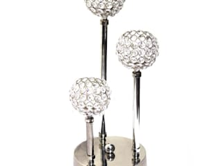 Home Decor Nickel Plated Triple T-lite Candle Holders by M4design