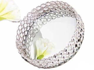 Crystal Round Dry Fruit Serving Tray by M4design