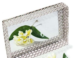 Crystal & Mirror Decorative Serving Tray by M4design