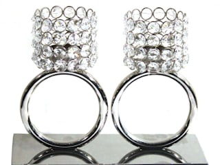 Twin Crystal Ring Tea Light Holders by M4design