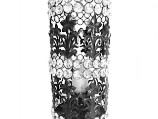 Floral Design Crystal Pillar Lamp by M4design