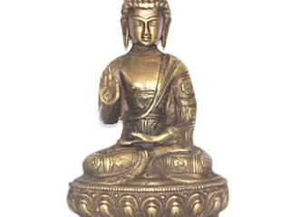Blessing Buddha Natural Brass Statue by M4design