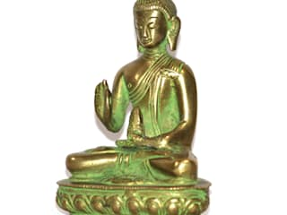 Green Brass Buddha Sculpture by M4design