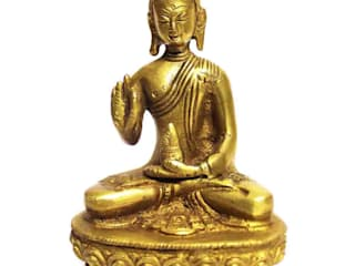Meditating Buddha Brass Statue by M4design