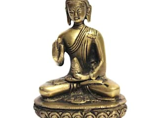 Antique Brass Buddha Meditating Scuptures by M4design
