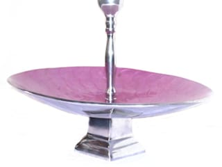 Pink Enamel Fruit Bowl Stand / Cake Stand by M4design