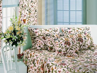 Crewel Bedspread by Crewel Fabric From Zia Enterprises