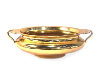 Gold Plated Brass Urli: asian  by M4design,Asian