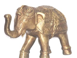 Good Luck Elephant Brass Sculpture: asian  by M4design,Asian