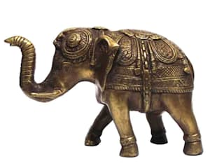 Antique Brass Feng Shui Elephant Figurine: asian  by M4design,Asian