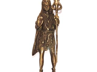 Lord Shiva Brass Statue –Indian Hindu  God: asian  by M4design,Asian