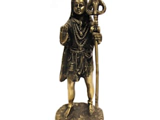 Indian Hindu God Shiva Antique Brass Sculpture: asian  by M4design,Asian