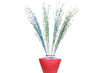 Red Enameled Flower Vase: asian  by M4design,Asian
