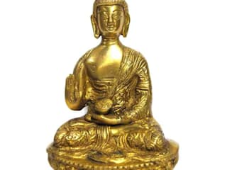 Green Brass Buddha Sculpture: asian  by M4design,Asian