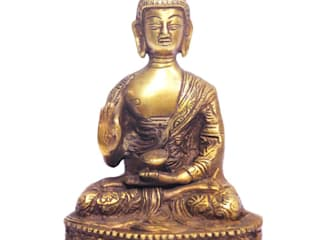 Home Decor Brass Buddha Statue: asian  by M4design,Asian