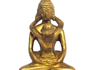 Lord Buddha With Child Brass Statue: asian  by M4design,Asian