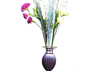 Blue Enameled Flower Vase: asian  by M4design,Asian