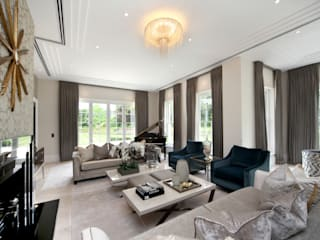 Project 2 Wentworth Estate Livings de estilo moderno de Flairlight Designs Ltd Moderno