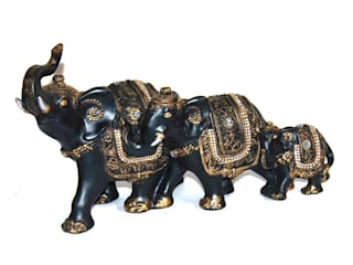 Decorative Polyresin Elephant Family Figurines: asian  by M4design,Asian