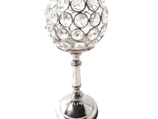 Round Crystal T -Lite Candle Holder: asian  by M4design,Asian