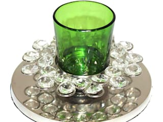 Crystal Decor Green Glass Votive Tealight Holders: asian  by M4design,Asian