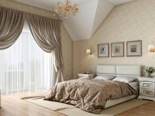 Дом в неоклассическом стиле Спальня в классическом стиле от Студия дизайна 'New Art' Классический