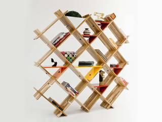Estante Cruzada por Pedro Braga Design Moderno