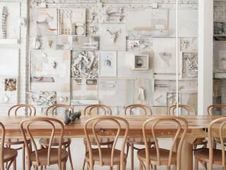 Hueso Restaurant: Restaurantes de estilo  por Cadena + Asociados Concept Design