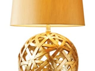 Gold round lamp:   by The Lighting Store