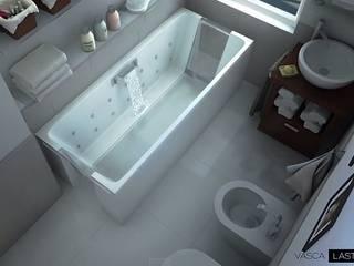 Vasca da bagno reversibilmente estendibile: Bagno in stile  di M+design