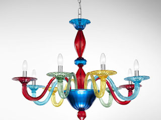 Chandeliers in Murano Glass من Vetrilamp