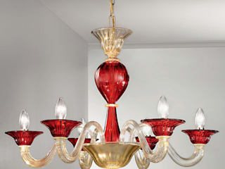 Chandeliers in Murano Glass por Vetrilamp
