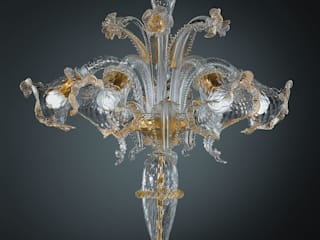 Murano glass table lamps por Vetrilamp Moderno