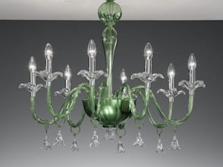 Ceiling Murano glass lamps من Vetrilamp