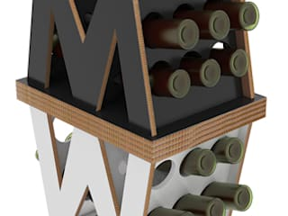 MY WINE:  in stile industriale di viviana degrandi, Industrial