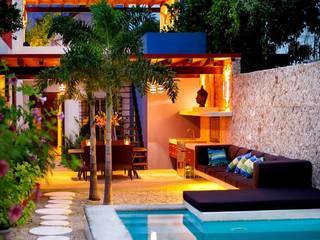 Fachada Posterior Casas de estilo mediterráneo de Taller Estilo Arquitectura Mediterráneo