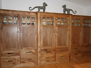 Handmade Elm cabinets:   by Break The Mould Furniture