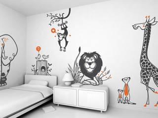 stickers enfants : kit savane par E-GLUE - Stickers Muraux et Papier-Peints Enfants Éclectique