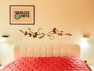 - Dormitorios de estilo moderno de Vinilos con Arte Moderno